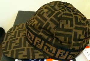 FENDI LOGO EMBROIDED HAT $186