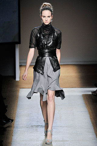 MODEL IN YVES SAINT LAUREN SPRING 2010 RTW!!! ITS HAUTE COUTURE BE CAN BE WORN OUTSIDE OF IT AS WELL
