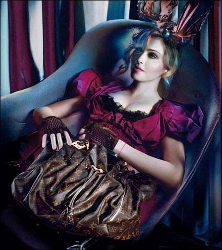 Madonna's Louis Vuitton fall/winter 2009/10 campaigne picture