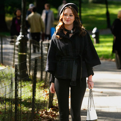 Leighton Meester Again Looking Fabulous In The City In A Coat By Theory Citymalik 39 S Blog
